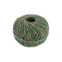 Прочие ШЛЗН Нитки Шпагат льняной с зеленой нитью ШЛЗН 100% лён 1.5 мм 100 м 109 я суровый/зеленый