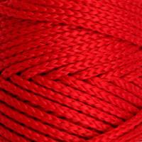 Osttex СМЛ-40115-11-СМЛ0002862174 Шнур для вязания без сердечника 100% полиэфир, ширина 3мм 100м/210гр, (96 сиреневый) красный