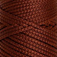 Osttex СМЛ-40115-12-СМЛ0002862185 Шнур для вязания без сердечника 100% полиэфир, ширина 3мм 100м/210гр, (96 сиреневый) коричневый