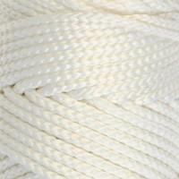 Osttex СМЛ-40115-13-СМЛ0002862173 Шнур для вязания без сердечника 100% полиэфир, ширина 3мм 100м/210гр, (96 сиреневый) белый