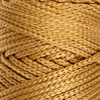 Osttex СМЛ-40115-2-СМЛ0002862189 Шнур для вязания без сердечника 100% полиэфир, ширина 3мм 100м/210гр, (96 сиреневый) жёлтый