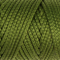 Osttex СМЛ-40115-6-СМЛ0002862193 Шнур для вязания без сердечника 100% полиэфир, ширина 3мм 100м/210гр, (96 сиреневый) зелёный