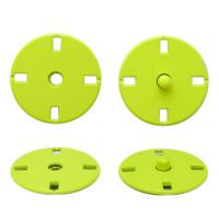 Прочие ССФ-1533-10-ССФ0017586291 Кнопка пришивная металл, 21 мм, уп. 5шт. зеленый