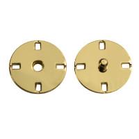 Прочие ССФ-1533-18-ССФ0017586299 Кнопка пришивная металл, 21 мм, уп. 5шт. золотистый