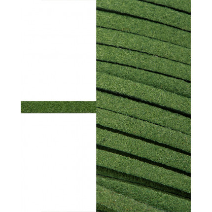 Шнур  замшевый ш.0,3 см зеленый 1 м (арт. ТШН-11-39-5000.017)