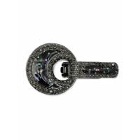 Прочие ЗДШ-14-1-31821 Застежка для шубы р.4х7 см темный никель