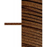 Прочие ЗШД-2-4-38962.004 Шнур замшевый с глиттером ш.0,3 см коричневый 100 см