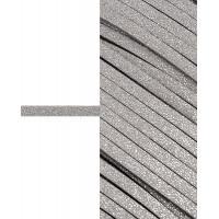 Прочие ЗШД-2-5-38962.005 Шнур замшевый с глиттером ш.0,3 см серый 100 см