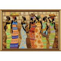 """Нова Слобода №06 Набор для вышивания """"Нова Слобода"""" ДК №06 1038 """"Африканские красавицы"""" 76 х 59 см"""