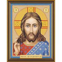 """Нова Слобода №1 Канва/ткань с рисунком """"Нова Слобода"""" №1 для вышивания бисером 13 см х 17 см БИС 5001 """"Христос Спаситель"""""""