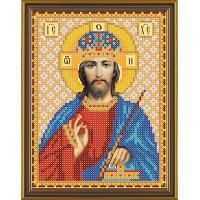 """Нова Слобода №1 Канва/ткань с рисунком """"Нова Слобода"""" №1 для вышивания бисером 13 см х 17 см БИС 5061 """"Христос Спаситель"""""""