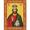 """Нова Слобода №1 Канва/ткань с рисунком """"Нова Слобода"""" №1 для вышивания бисером формат А3 БИС 1209 """"Христос Спаситель"""""""
