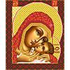 """Нова Слобода №1 Канва/ткань с рисунком """"Нова Слобода"""" №1 для вышивания бисером формат А3 БИС 1210 """"Богородица Корсунская"""""""