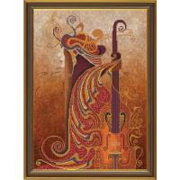 Nova Sloboda 3126 Набор для вышивания «Nova Sloboda» ННК3126 Музыка чувств. Скрипка, 30х42см