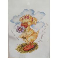 Orchidea 7154 Набор для вышивания Anex-bis Цыпочка с цветком 18*25 см