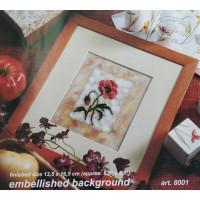 Orchidea 8001 Набор для вышивания Цветы, украшенный фон 13,5*16,5 см