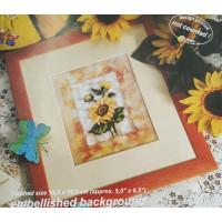 Orchidea 8004 Набор для вышивания Цветы, украшенный фон 13,5*16,5 см
