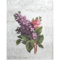 Orchidea 8007 Набор для вышивания Цветы, украшенный фон 18*24 см