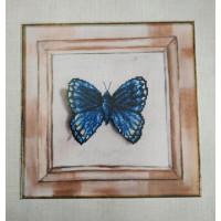 Orchidea 8032 Набор для вышивания  Бабочка, украшенный фон 23*23 см.