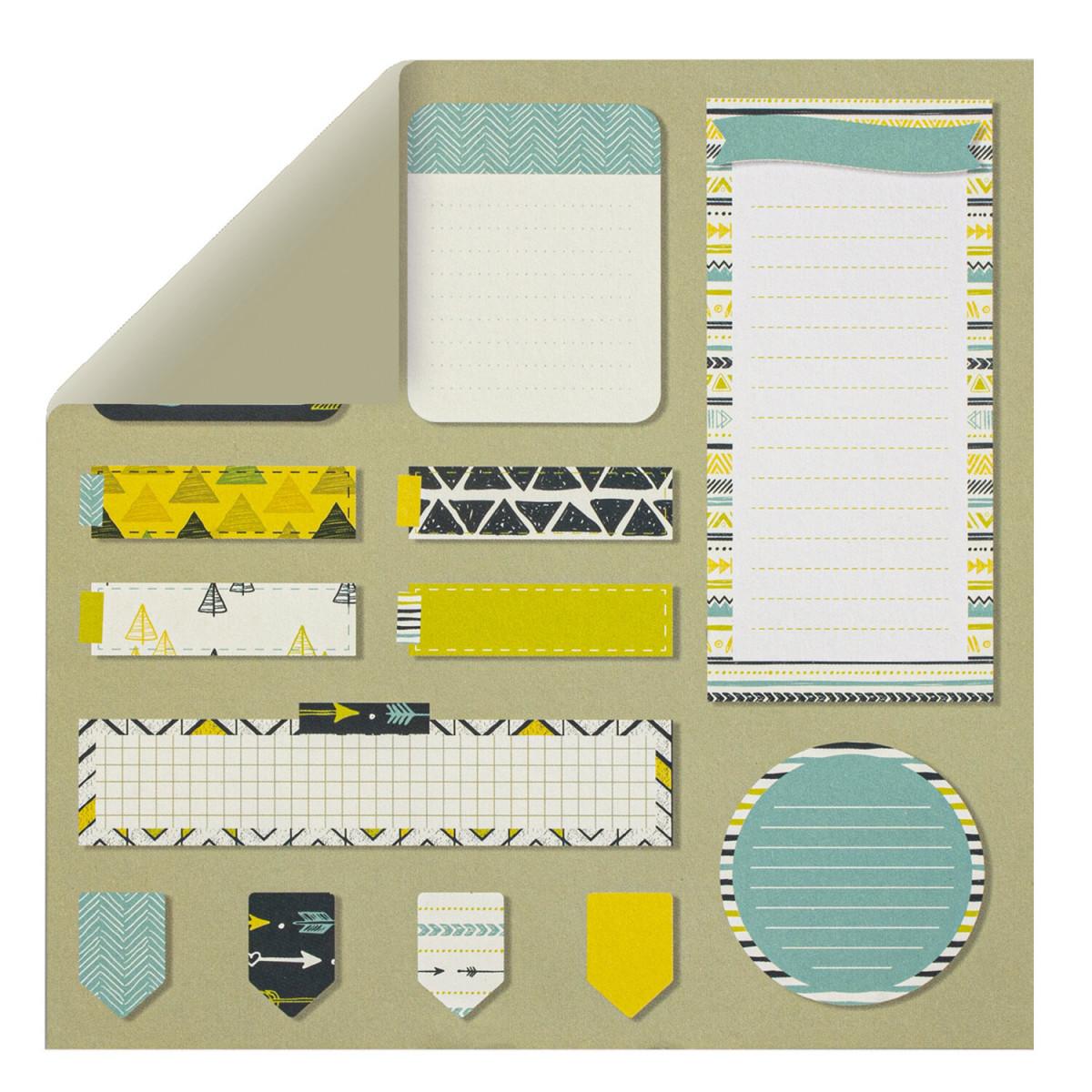 """Бумага для скрапбукинга 30х30 см """"Геометрия"""", двусторонняя, 12 листов, 12 дизайнов, 180 г/м2, ОСТРОВ СОКРОВИЩ, 662762"""