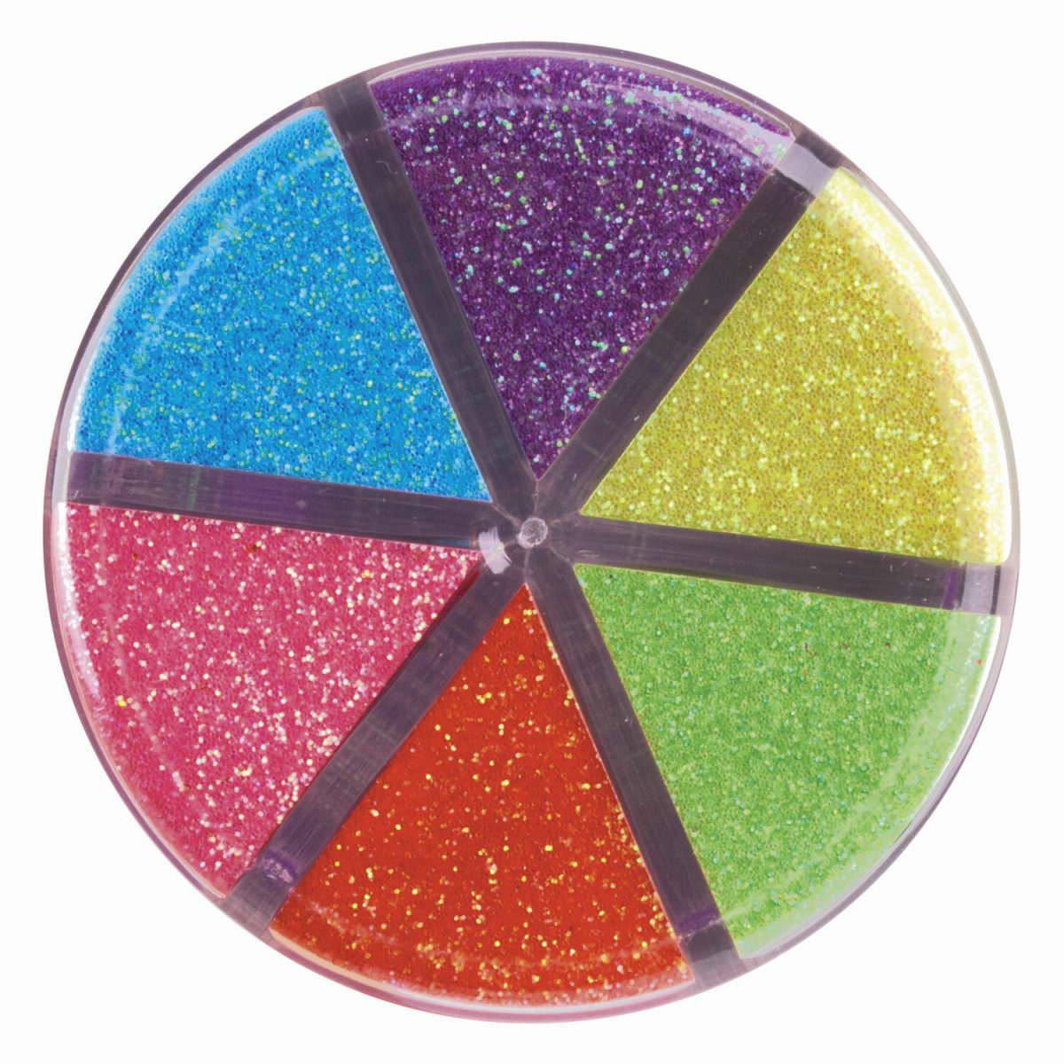 Блестки (глиттер) для декора, поделок, DIY, творчества, оформления, ОСТРОВ СОКРОВИЩ, НЕОН, диспенсер с дозатором, 6 цветов по 10 г, 662223 (арт. 662223)