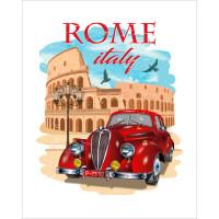 """ОСТРОВ СОКРОВИЩ 663344 Картина по номерам 40*50 см, ОСТРОВ СОКРОВИЩ """"Все дороги ведут в Рим"""", на подрамнике, акрил, кисти, 663344"""