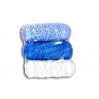 Osttex НШП 3мм бсг Набор шнуров полиэфирных 3мм (белый+синий+голубой)