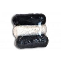 Osttex НШП 3мм чбс Набор шнуров полиэфирных 3мм (чёрный+белый+тёмно серый)
