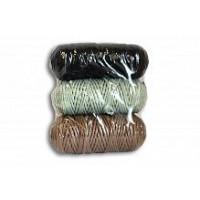 Osttex НШП 3мм чзг Набор шнуров полиэфирных 3мм (чёрный-серо зелёный+горчичный)