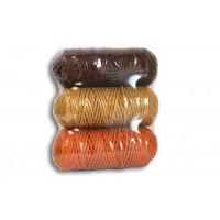 Osttex НШП 3мм пгк Набор шнуров полиэфирных 3мм (песочный+горчичный+коричневый)
