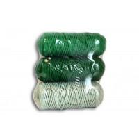 Osttex НШП 3мм ззз Набор шнуров полиэфирных 3мм (зелёный+тёмно зелёный+серо зелёный)