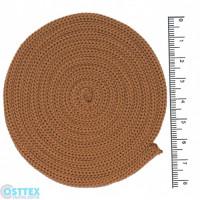 Osttex ШП 4мм беж Шнур полиэфирный 4 мм без сердечника (бежевый) 50м (137)