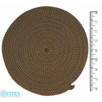 Osttex ШП 4мм тб Шнур полиэфирный 4 мм без сердечника (темно бежевый) 50м (37)