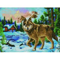 Paintboy EF1136 Алмазная мозаика 30х40 EF1136 Зимняя охота волка
