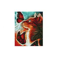 Paintboy EF1140 Алмазная мозаика 30х40 EF1140 Кошка и бабочки
