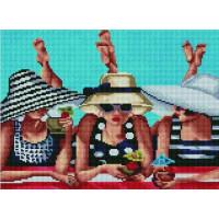 Paintboy EF1145 Алмазная мозаика 30х40 EF1145 Девушки на пляже