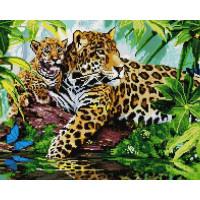 Paintboy GF1424 Алмазная мозаика 40х50 GF1424 Семейство леопардов