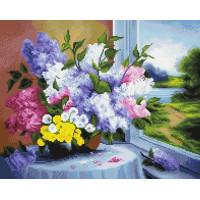 Paintboy GF1814 Алмазная мозаика 40х50 GF1814 Букет у окна