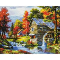 Paintboy GF1853 Алмазная мозаика 40х50 GF1853 Водяная мельница