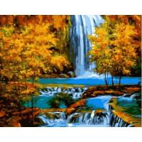 Paintboy GX37074 Картина по номерам 40х50 GX37074 Водопад осенью