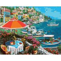 Paintboy GX37079 Картина по номерам 40х50 GX37079 Кафе на побережье