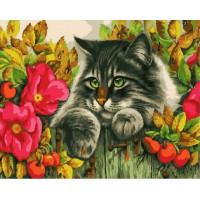 Paintboy GX37096 Картина по номерам 40х50 GX37096 Кошка на заборе