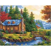 Paintboy GX37105 Картина по номерам 40х50 GX37105 Домик в лесу