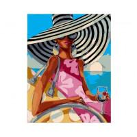 Paintboy GX4021 Картина по номерам 40х50 GX4021 Девушка на пляже