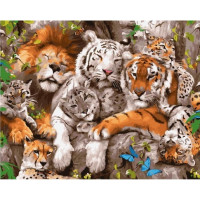 Paintboy GX5188 Картина по номерам 40х50 GX5188 Лесные хищники