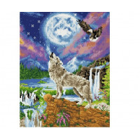 Paintboy QA203678 Алмазная мозаика 40х50 QA203678 Вой на луну