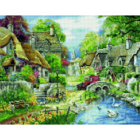 Paintboy QA204591 Алмазная мозаика 40х50 QA204591 Домики у реки