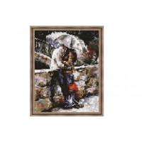 Paintboy QS200224 Алмазная мозаика 30х40 QS200224 Влюбленные под зонтом