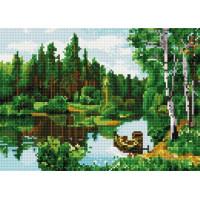 Paintboy QS200252 Алмазная мозаика 30х40 QS200252 Лодка у берега