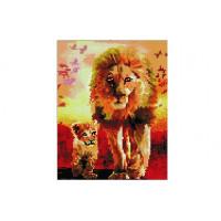 Paintboy QS200284 Алмазная мозаика 30х40 QS200284 Лев и львенок